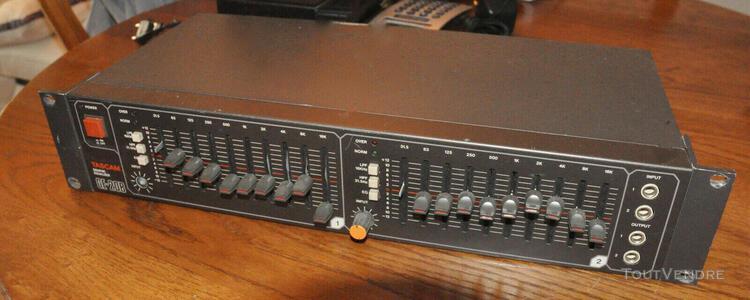 tascam ge-20b, stereo 10 band graphic egaliseur graphique de