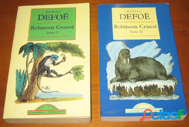 Robinson crusoë (2 tomes), daniel defoë