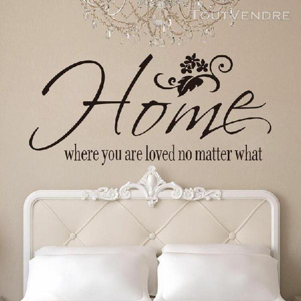 Accueil où êtes-vous home decor wall sticker decal chambre
