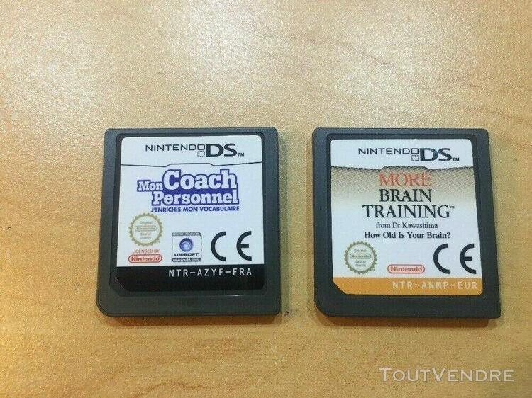 Console nintendo ds lite + 4 jeux + chargeur + sacoche prote