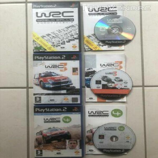 Lot 7 jeux ps2 /wrc 1,3 & 4, enthusia, srs, gran turismo / c