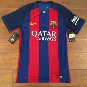 Nike fc barcelone aeroswift home match authentic s raye bleu