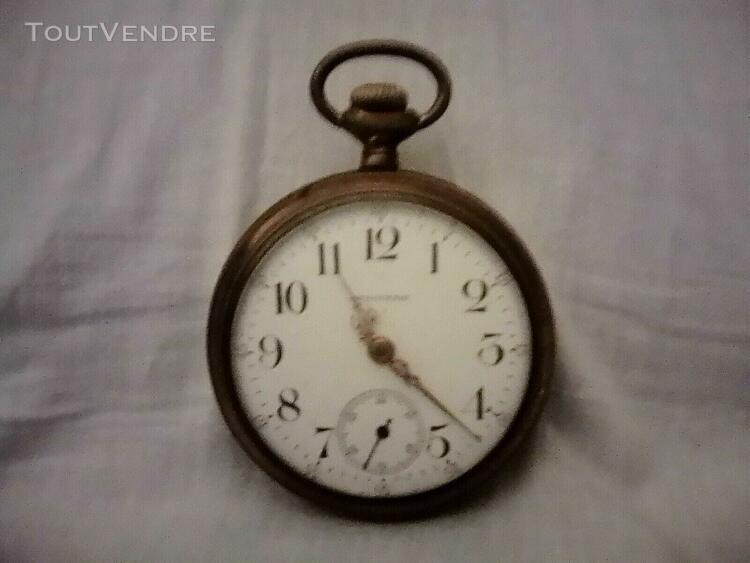 Magnifique montre gousset en bronze doré sans chaînette