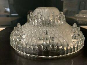 verre satinée 1930 coupelle applique Joli ancien lustre Art Déco