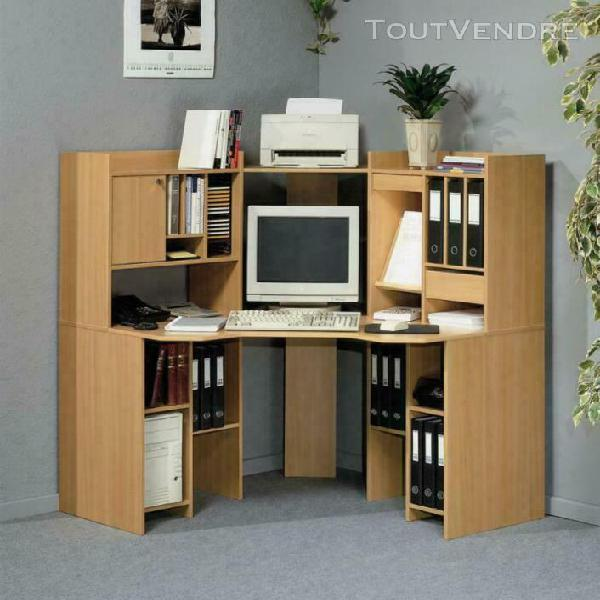 Bureau d'angle informatique multimedia meuble occasion confo
