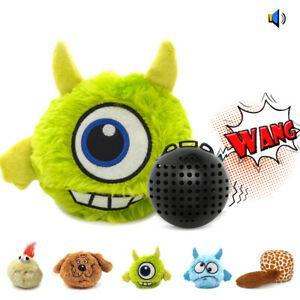 Chien interactive jouet en peluche giggle ball shake squeak