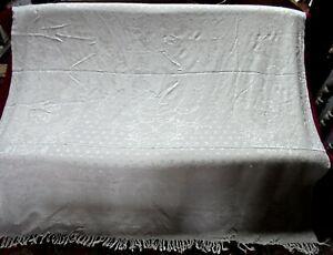 Dessus de lit - jeté de canapé - soie et coton - blanc
