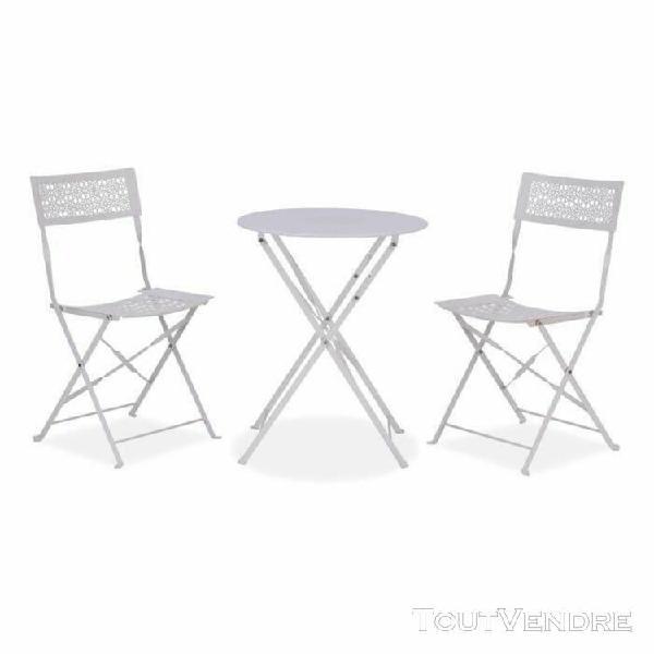 Ensemble repas de jardin ou balcon - set bistrot table avec