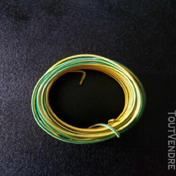 fil Électrique 1.5mm jaune et vert 9 mètres