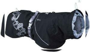 Hurtta manteau imperméable drizzle coat pour chien, noir,