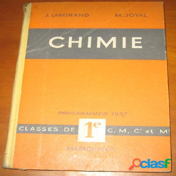 Chimie classe de 1e c, m, c' et m', j. lamirand m. joyal