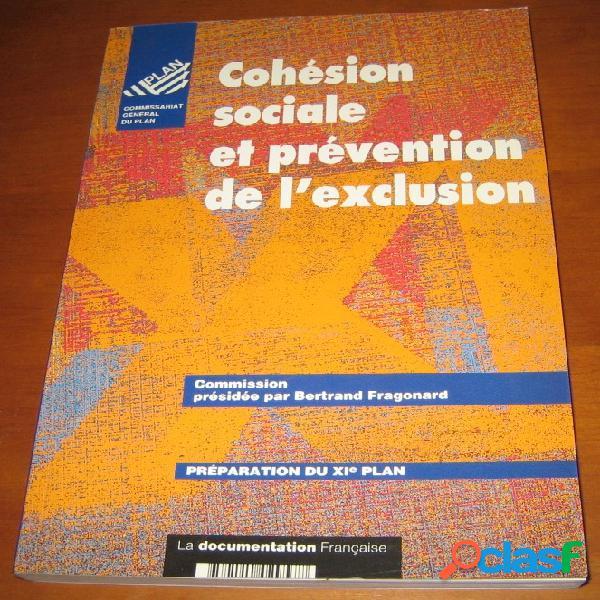 Cohésion sociale et prévention de l'exclusion, bertrand fragonard