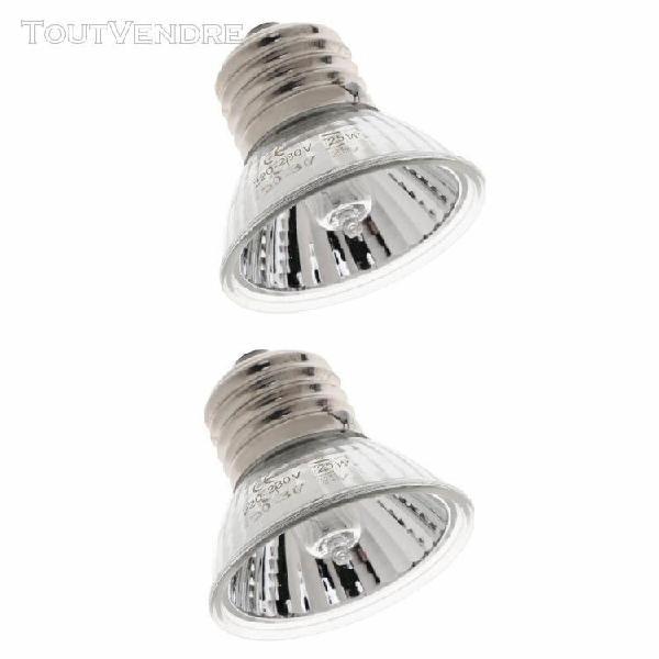 2pc 50w calcium ampoule terrarium reptile e27 uva uvb lampe