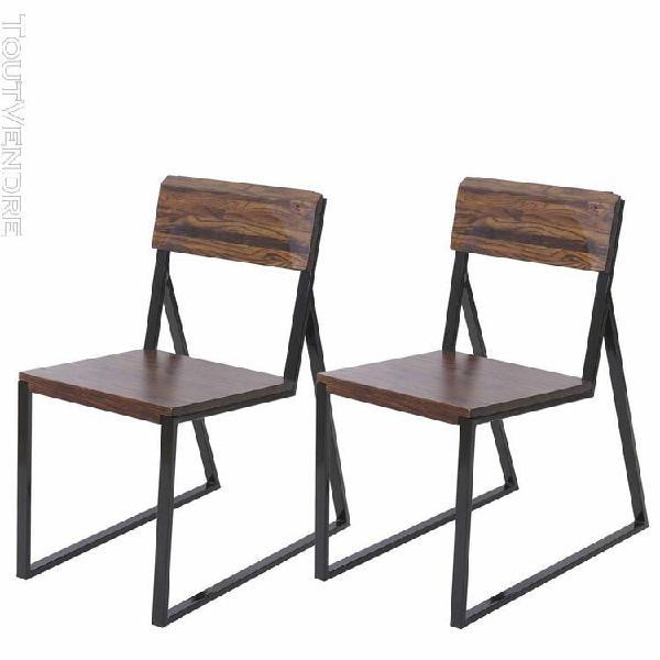 2x chaise de salle À manger hwc-a88, fauteuil, bois d'orme