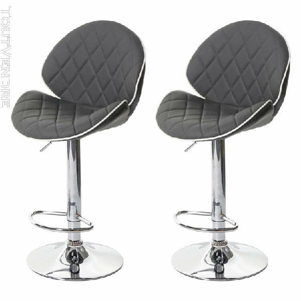 2x tabouret de bar hwc-f15, chaise de comptoir, rotatif, sim