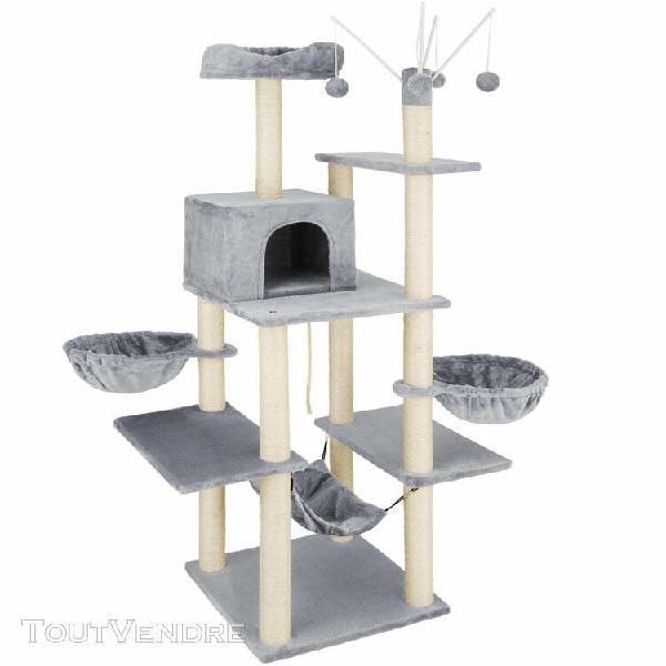 Arbre à chat griffoir grattoir 165cm jouet douillet 4
