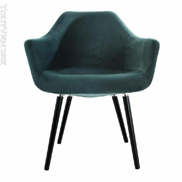 chaise anssen en velours vert