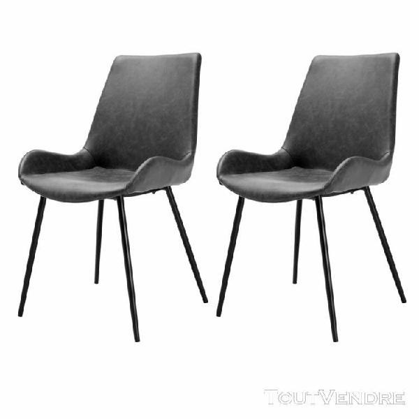 chaise austin gris foncé (lot de 2)