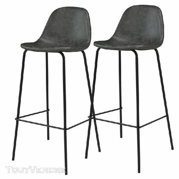 chaise de bar henrik noire 75 cm (lot de 2)