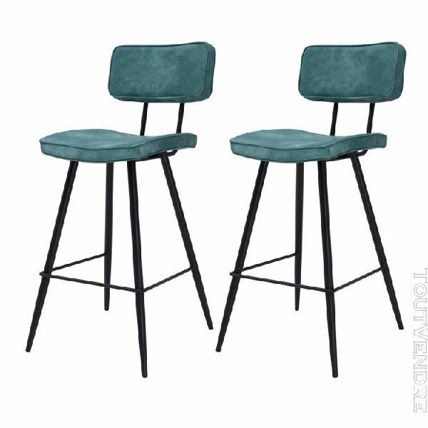chaise de bar texas bleue 65 cm (lot de 2)