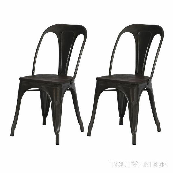 chaise indus yoanna grise (lot de 2)