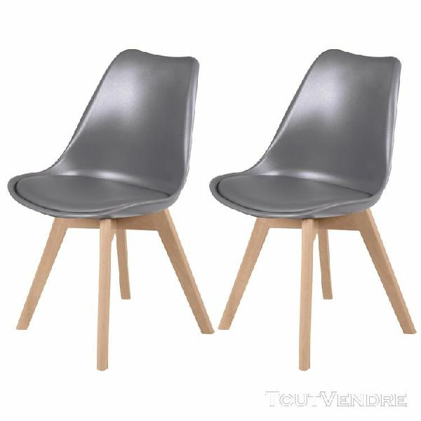 chaise skandi gris foncé (lot de 2)