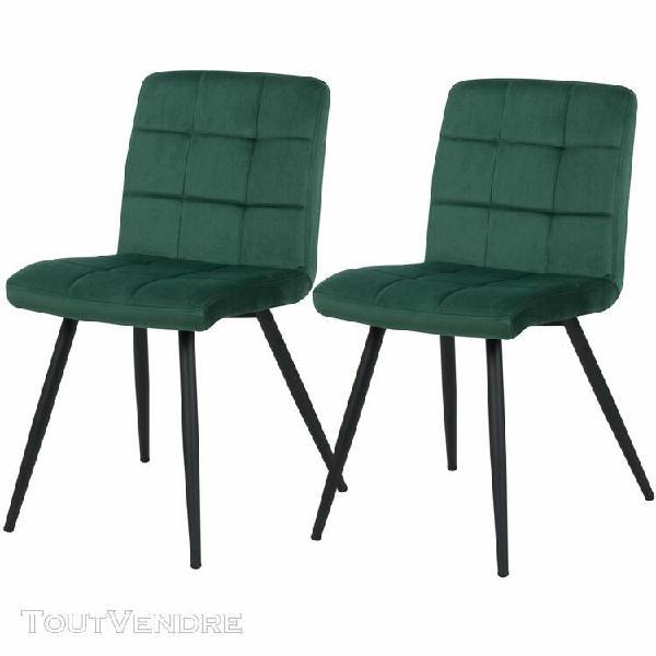 chaise zola en velours vert (lot de 2)