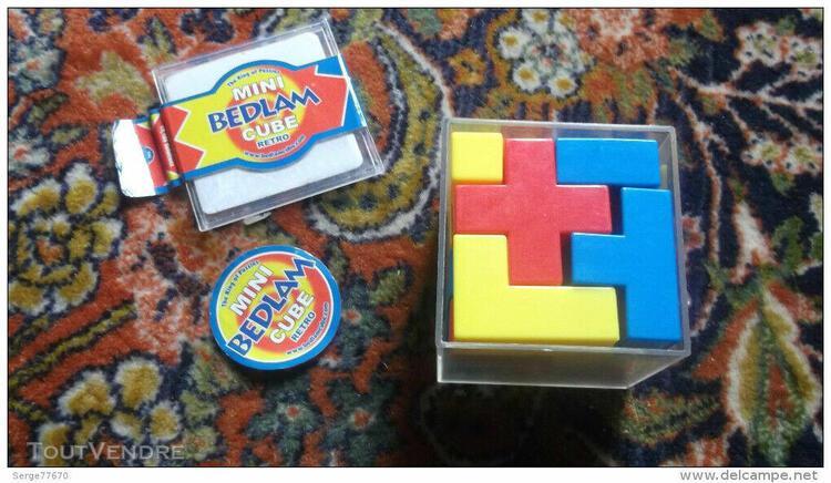 Cube bedlam mini retro crazee crazy casse tête puzzle rare