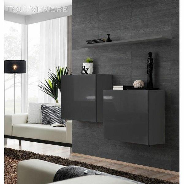 ensemble meubles de salon switch sbi design, coloris gris br