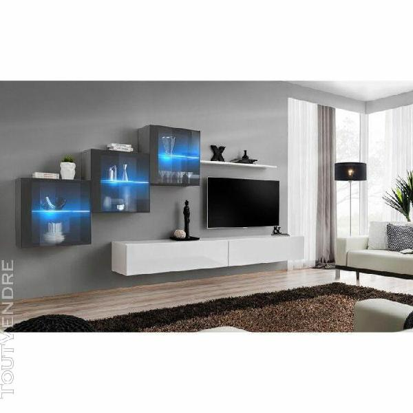 ensemble meubles de salon switch xx design, coloris blanc et