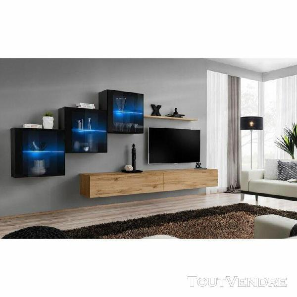 ensemble meubles de salon switch xx design, coloris chêne