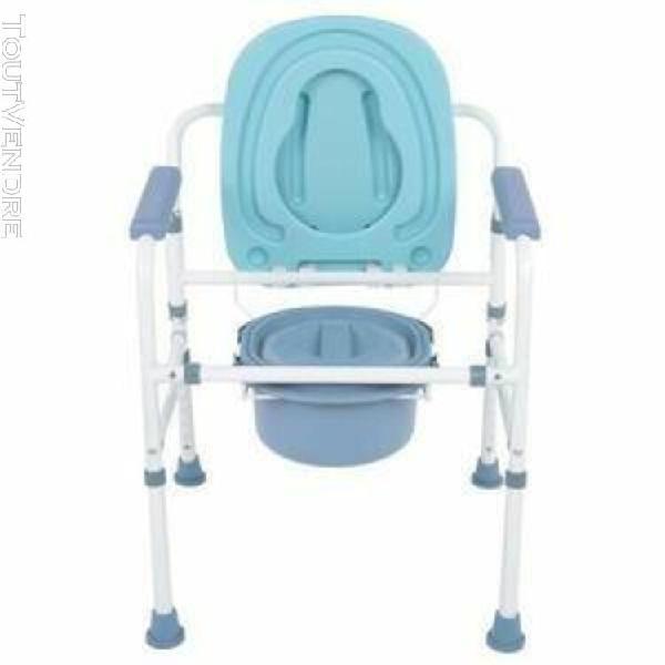 fauteuil de toilette en acier robuste en acier inoxydable