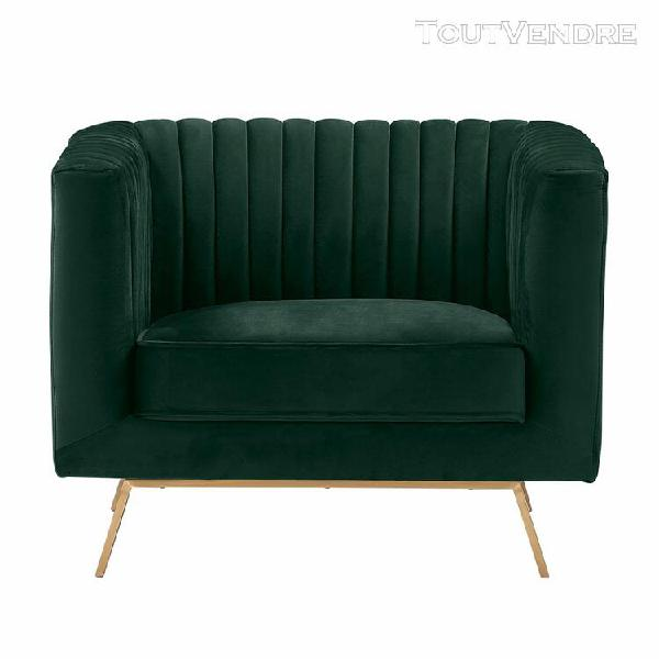 fauteuil gatsby en velours vert foncé