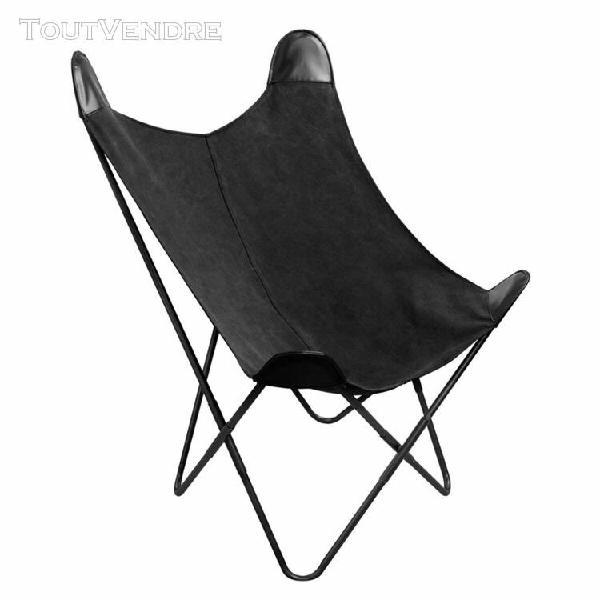 fauteuil papillon noir