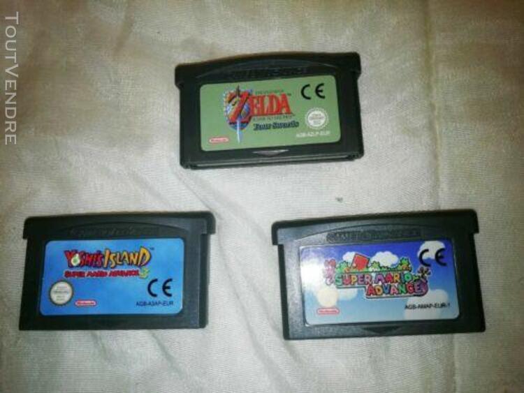 Game boy advance sp + mario + zelda + yoshi