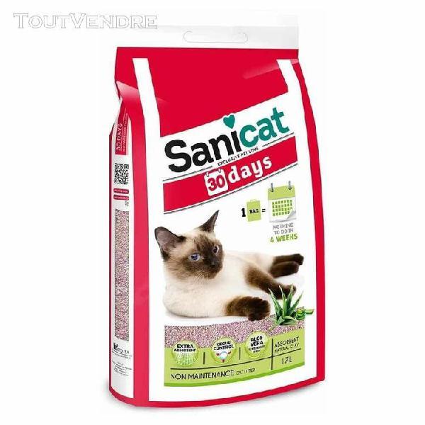 Litière minérale 30j parfumée aloe vera pour chat -