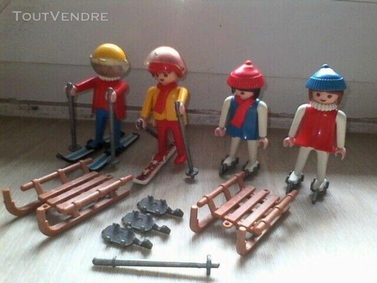 PLAYMOBIL Lot de 2 Casques Rouge Vintage POMPIERS G1105