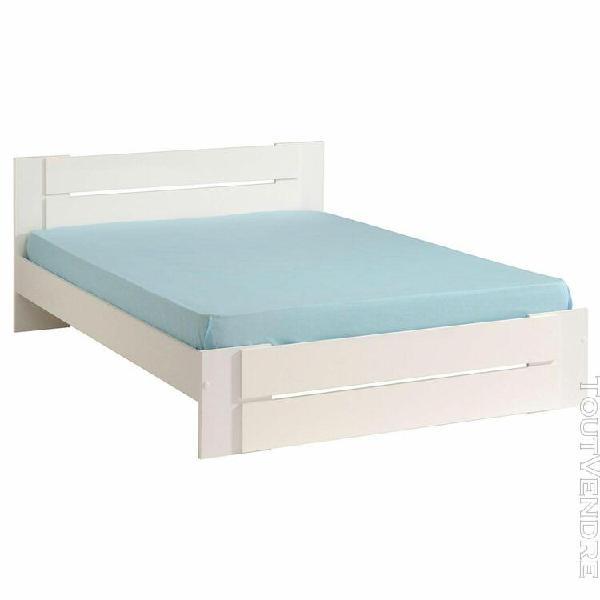 odeline - lit deux personnes 140x190cm blanc