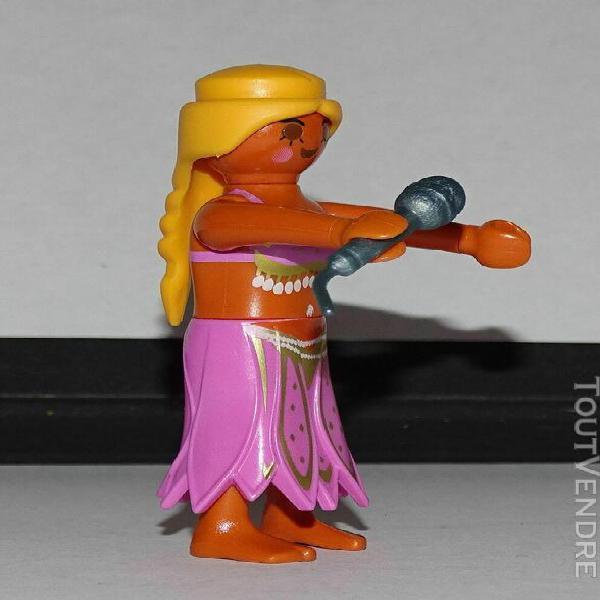 Playmobil custom dalida + micro - chanteur
