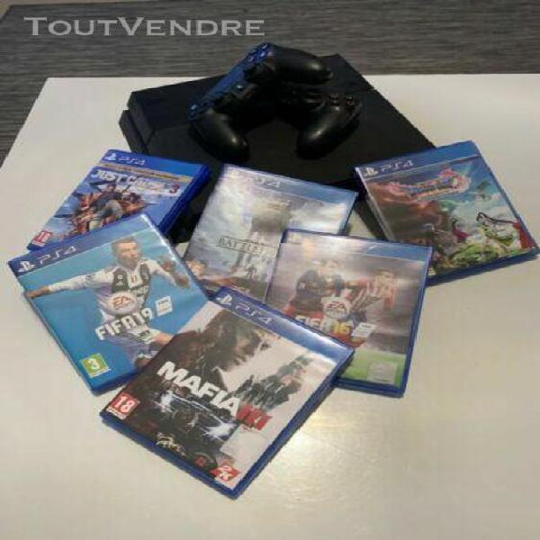 Ps4 console 1to 2 manettes 10+ jeux