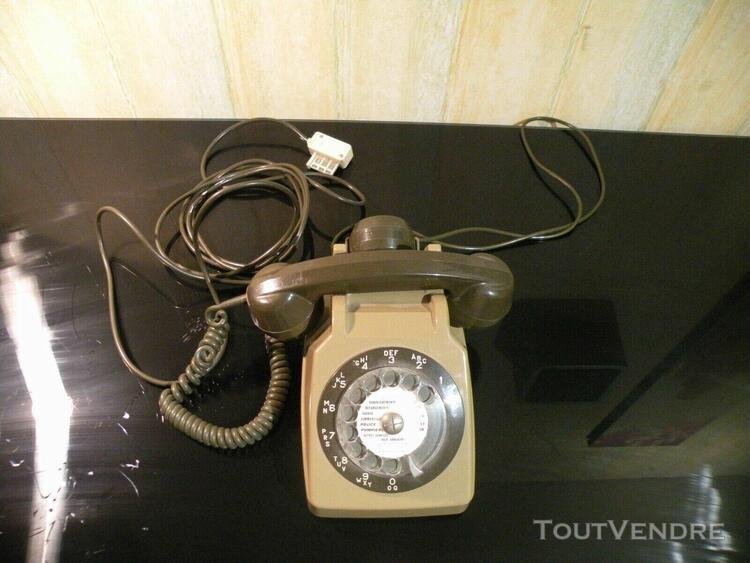 Ancien téléphone socotel s63 marron/kaki (fonctionne sur