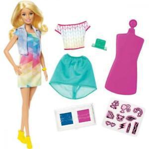 Barbie coffret crayola poupée et vêtements lavables à
