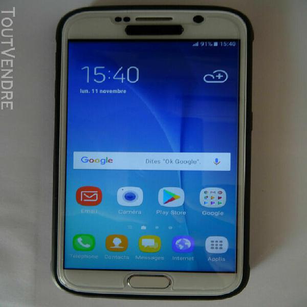 Samsung s6 blanc 32gb en excellent état de fonctionnement,