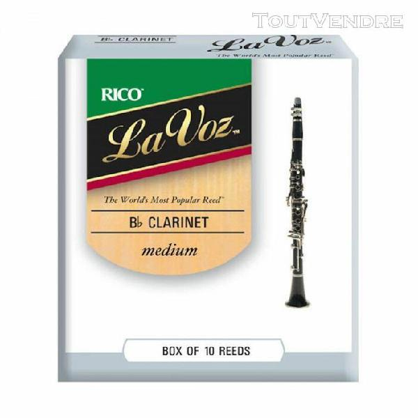 10 anches rico la voz clarinette sib - 9-25 - medium