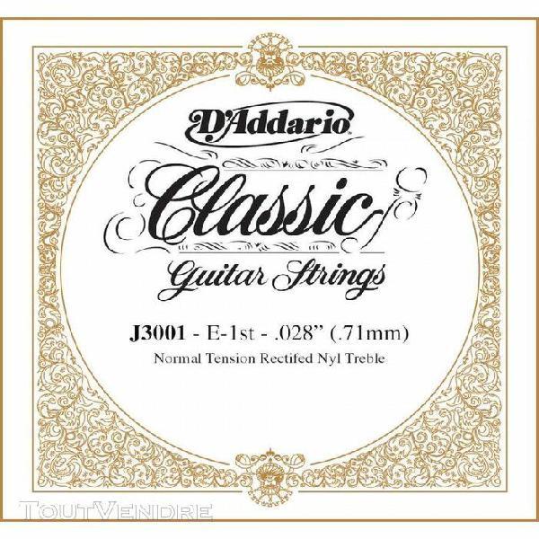 d'addario j3001, normal, première corde - corde au détail