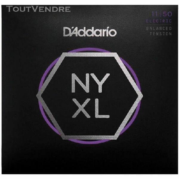 d'addario nyxl1150bt, filet nickel, balanced, medium, 11-50