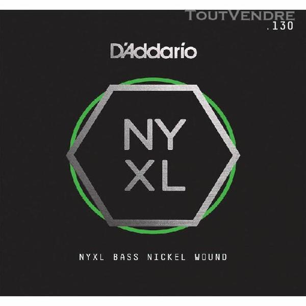 d'addario nyxlb130, nyxl filet nickel, diapason long,.130 -