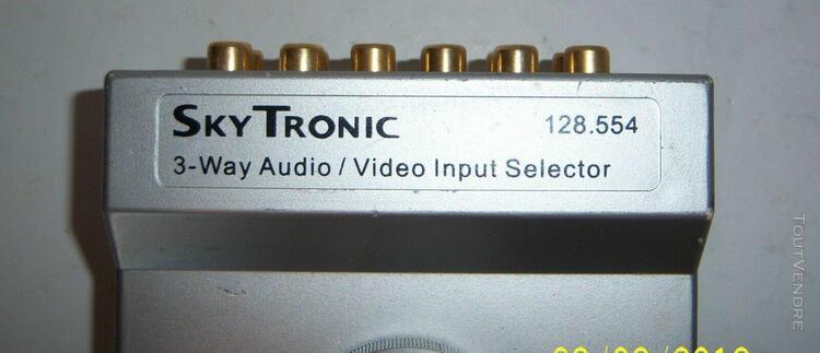 Sky tronic 3-way audio/vidéo input selector sélecteur 3