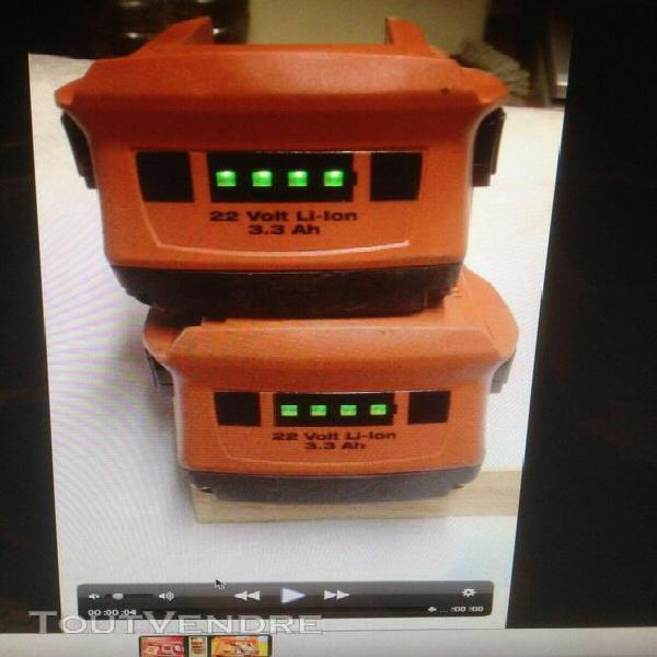 1 batterie hilti b 22 en 3,3ah en tbe (batteria, battery