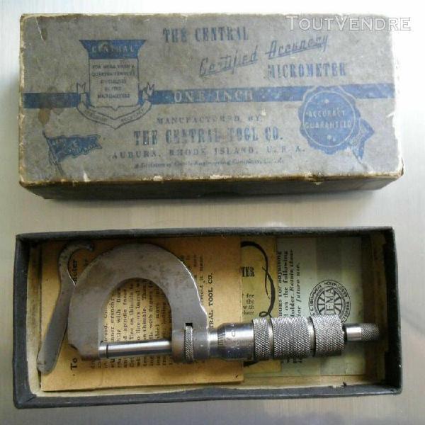 ancien micromètre de précision de la manufacture the